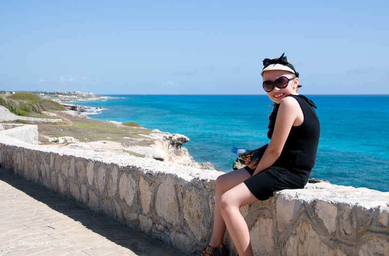 Sophia surveying the ocean at Punta Sur