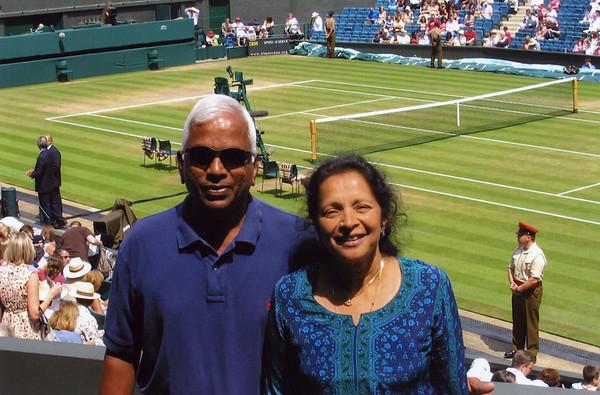 The Rajaramens at Wimbledon