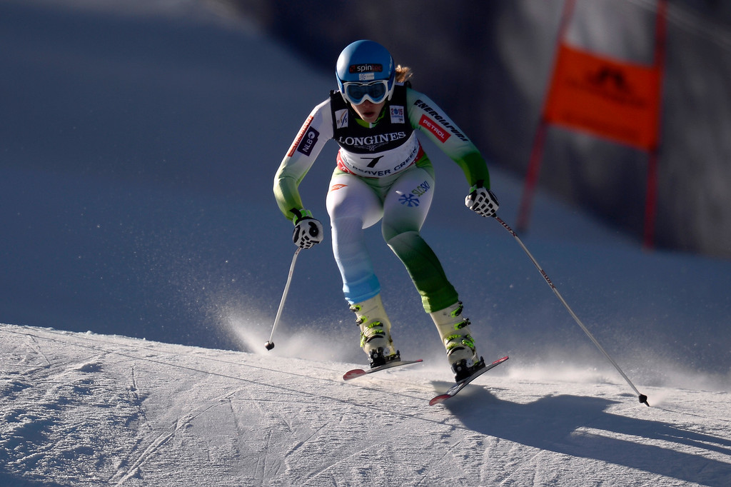 . BEAVER CREEK, CO - FEBRUARY 09: Ana Bucik of Slovenia during the men\'s alpine combined final. FIS Alpine World Ski Championships 2015 on Monday, February 9, 2015. (Photo by AAron Ontiveroz/The Denver Post)