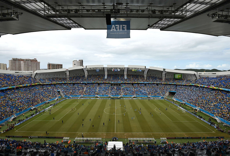 . A general view shows the Dunas Arena prior to a Group D football match between Italy and Uruguay in Natal during the 2014 FIFA World Cup on June 24, 2014.   YASUYOSHI CHIBA/AFP/Getty Images