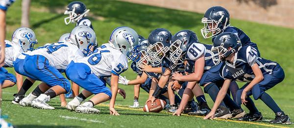 Vista Jr Eagles vs Rocklin - Mighty Mites Football 9-20-2014