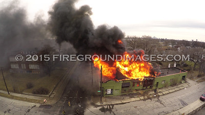 McGraw and Cicotte Building Fire (Detroit, MI) 3/29/15