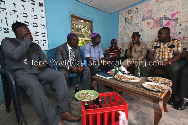 NIGERIA, Abuja, Gudaba. Community members, Beit Knesset Siyah Yisrael (8.2015)