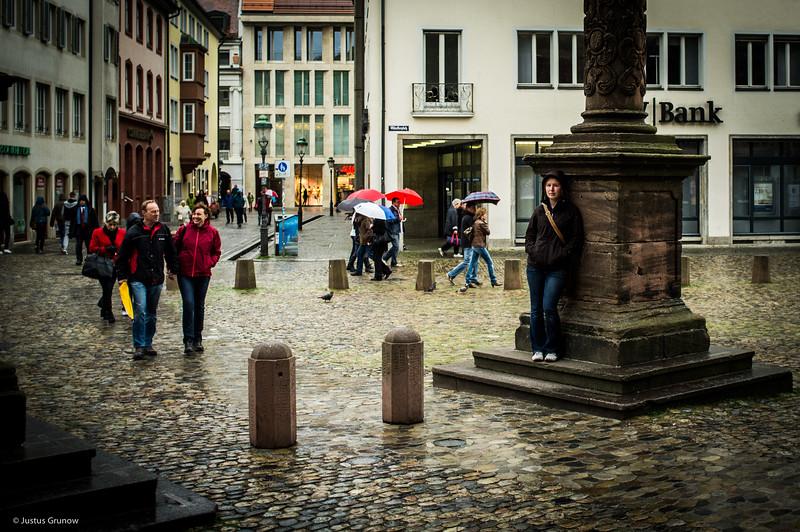 Rainy day in Freiburg
