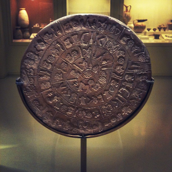 The amazing Phaistos Disc from 4000+ years ago. Minoan civilization cleverness  in Crete.