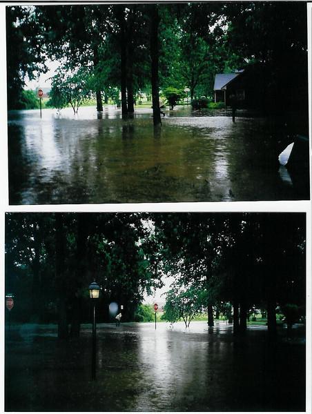 5-6-03 flooding, Ben having to walk to school.jpg
