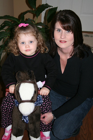 Mommy, Stella, and Holly the horse