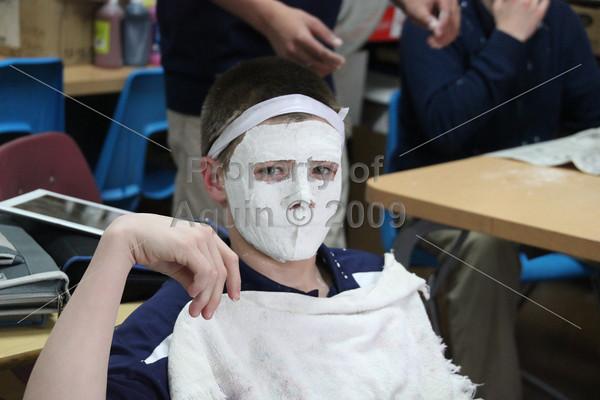 8th grade mask making . 4.7.14
