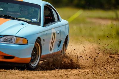 9 Blue/ Orange Mustang