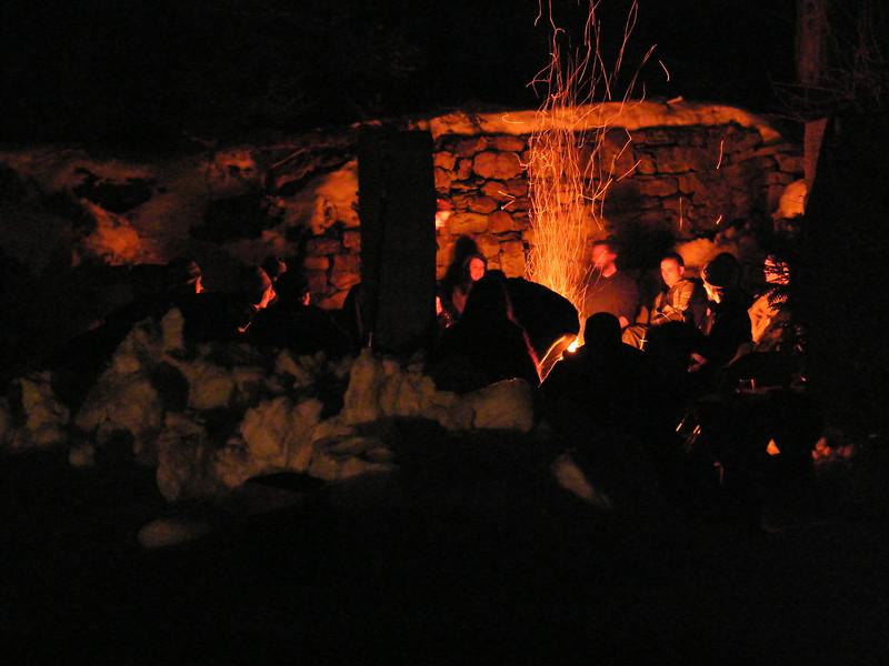 Moonlit Fire, Stonehedge Garden, South Tamaqua, 2-28-2010 (19).JPG