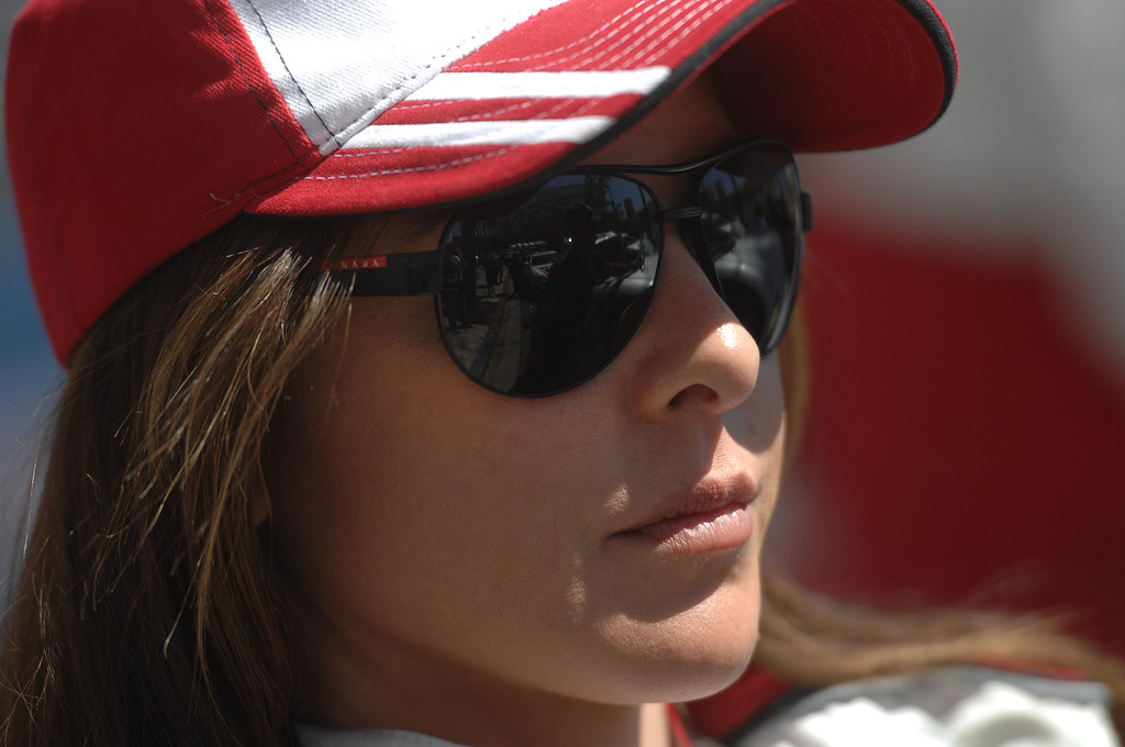 . 4/19/13 - Kate del Castillo  before the Friday morning practice of the Toyota Pro/Celebrity race at the 39th Annual Toyota Grand Prix of Long Beach. Photo by Brittany Murray / Staff Photographer