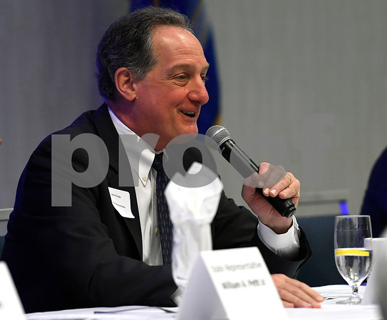 2/21/2018 Mike Orazzi | Staff State Rep. John Piscopo during the Central Connecticut Chambers of Commerce 2018 Legislative Breakfast held at the DoubleTree by Hilton Hotel Bristol in Bristol Wednesday morning.