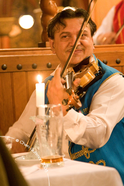 The head  violinist of the band