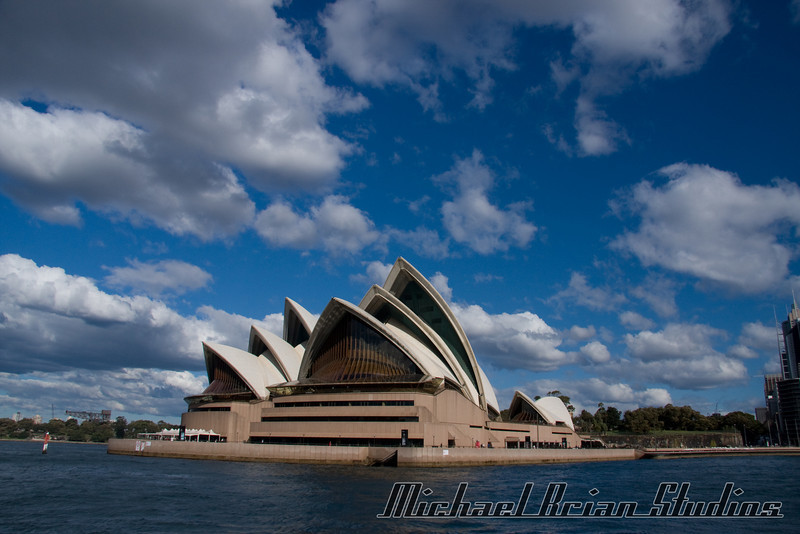 The Sydney Opera House, from the water.
