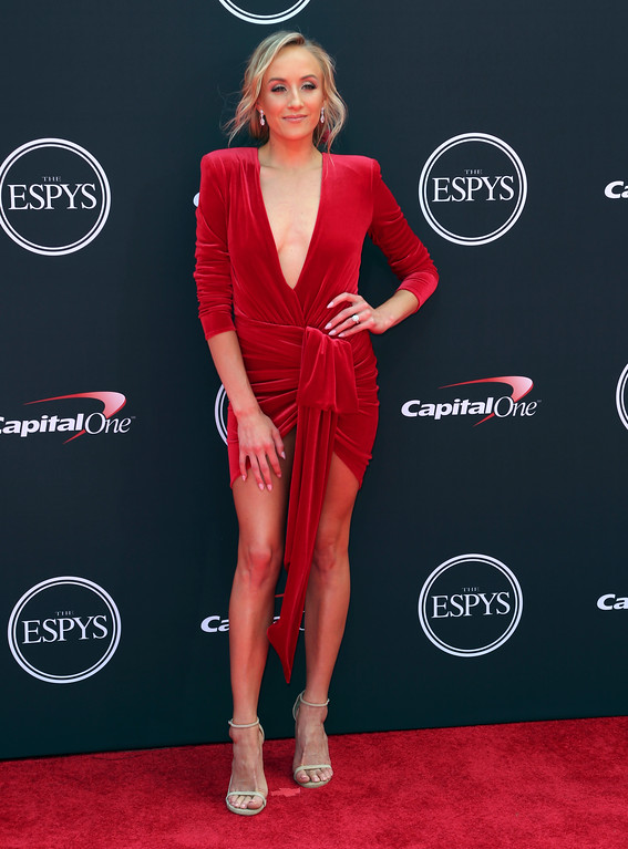 . Nastia Liukin arrives at the ESPY Awards at Microsoft Theater on Wednesday, July 18, 2018, in Los Angeles. (Photo by Willy Sanjuan/Invision/AP)