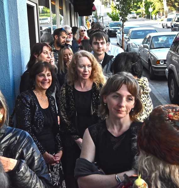 An early lined formed for the red carpet entrance. José Quezada—For Times-Standard