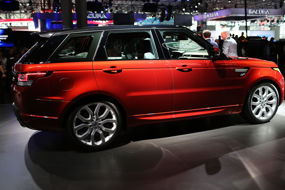 . The new Land Rover Sport is displayed at the 2013 New York International Auto Show on March 27, 2013 in New York City.  The New York Auto Show will open to the public on Friday and run until April 7.  (Photo by Spencer Platt/Getty Images)
