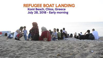 Refugee Boat Landing - Komi Beach, Chios, Greece