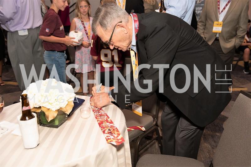 Pat Fischer. Photo by Yasmin Holman. Washington Redskins Lunch 2019. Washington Hilton. 08.28.19