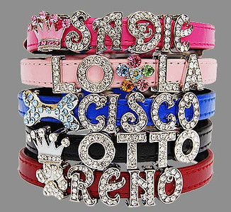Personalized Pet Collars With Letter & Bling