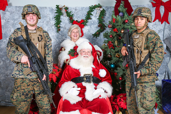 2013 Marine 1st Regiment Christmas Party Santa Pictures