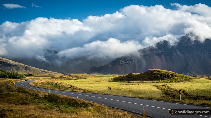 The very scenic Road 99 into Höfn, the langoustine capital of Iceland!