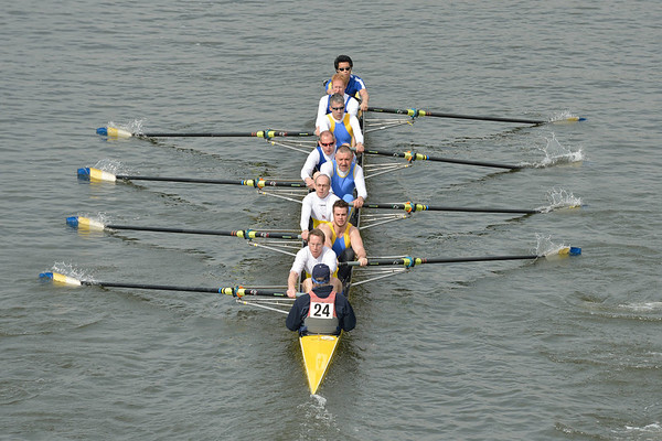 Rowing: Head of the River Race 2014 Veteran Eight