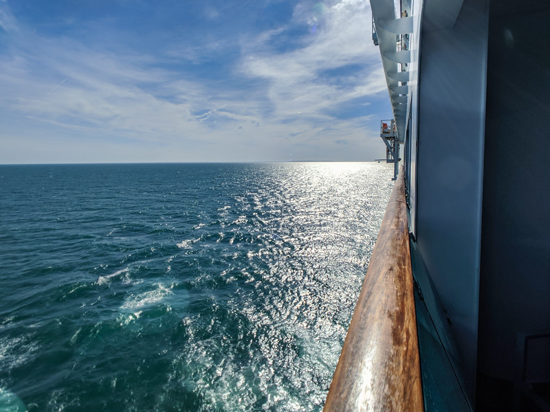 Day 2 - a full day at sea heading towards Bar Harbor, Maine