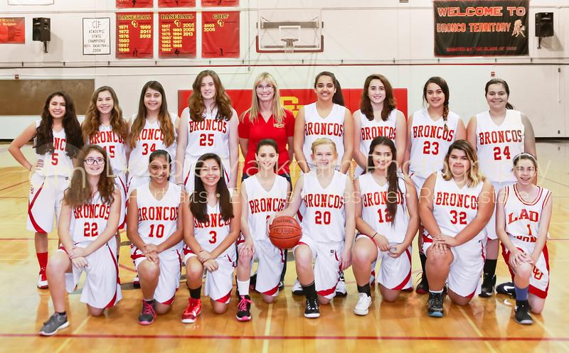 2014 & 2015 Girls Basketball Team