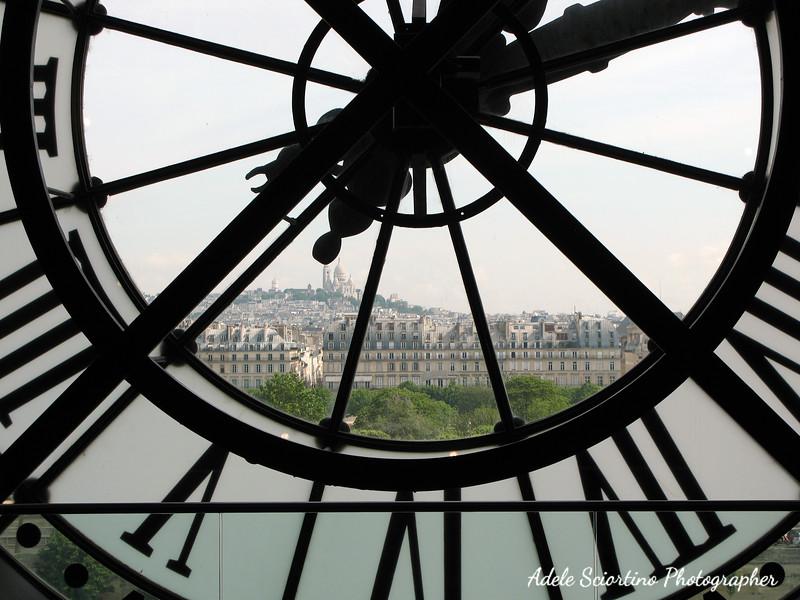 Clock Overseeing Paris