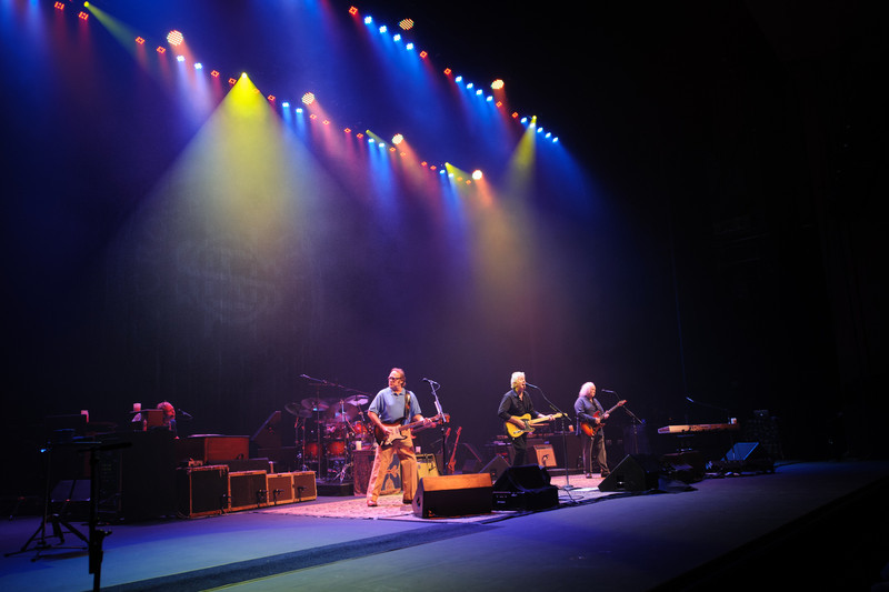 Stephen Stills, Graham Nash, and David Crosby of Crosby, Stills, & Nash perform on September 30 at Ruth Eckerd Hall in Clearwater, Florida.