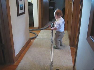 VIDEO, Ryan Vacuuming, April 25th, 2009
