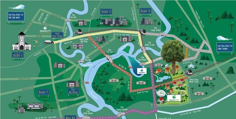 Swan City Map