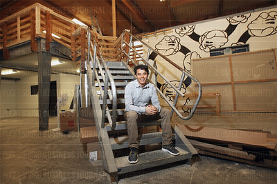 Bryce Phillips, chief executive of adventure sports retailer Evo, is pictured in Seattle