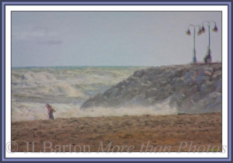"Surf Swimmer Off ""The Rock"" at Torremolinos"