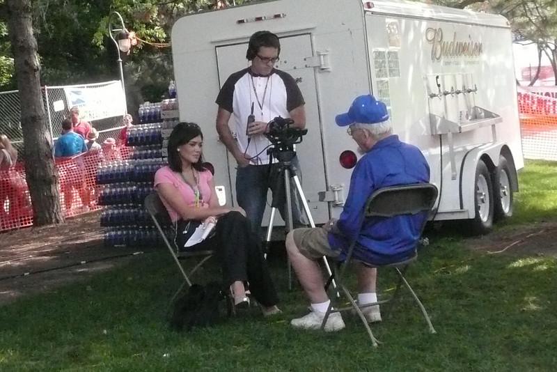 Chuck being interviewed by NCTV Fling 2009.jpg