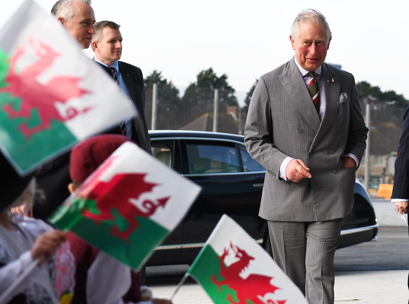 Prince Charles visits a school in south Wales
