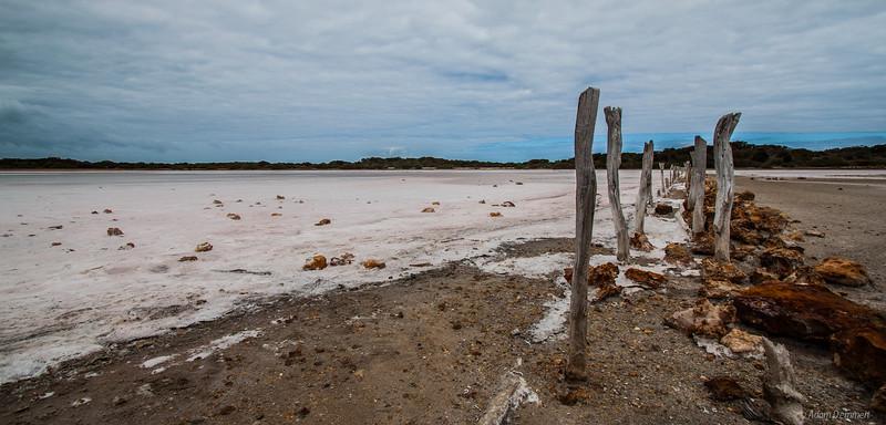 Salt lake on the Limestone Coast