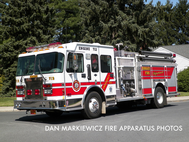 EMMAUS FIRE DEPT. ENGINE 712 1998 SPARTAN/CENTRAL STATES PUMPER