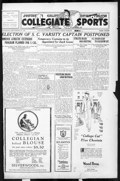 Daily Trojan, Vol. 17, No. 7, September 24, 1925