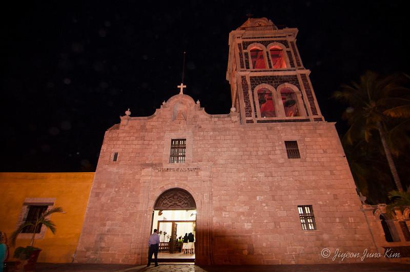 Mission Church in Loreto downtown