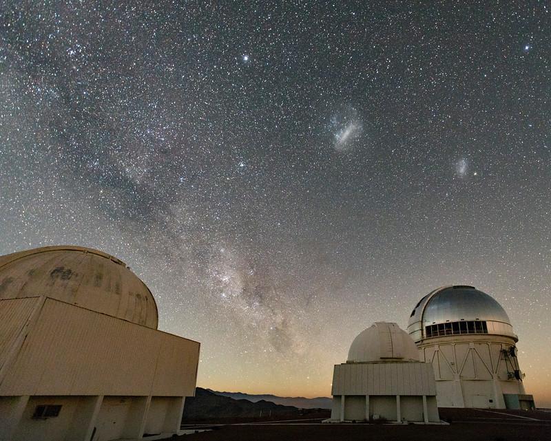 Telescope Domes, Milky Way, LMC, SMC, & So Much More