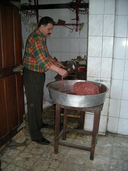 Sausage maker, Alexandria, Egypt
