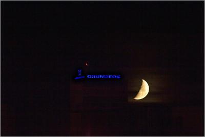 Západ Měsíce 10. 5. 2011