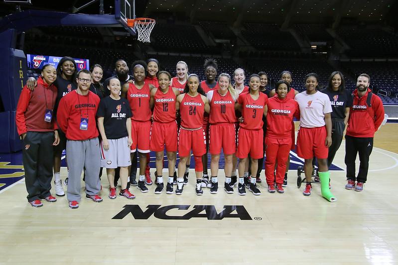 Georgia D-1 women's basketball practice