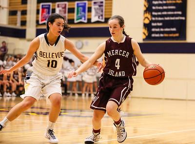 Mercer Island @ Bellevue Girls Varsity Basketball