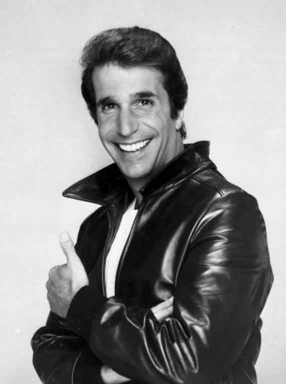 """. This file photo from 1984 shows Henry Winkler as \""""The Fonz\"""".  (AP Photo/File)"""