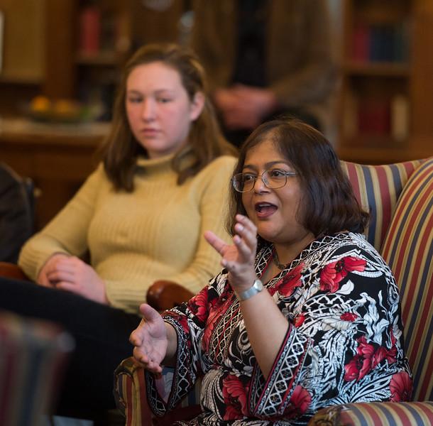 Yale Astonomer Sarbani Basu speaks during Morning Meeting