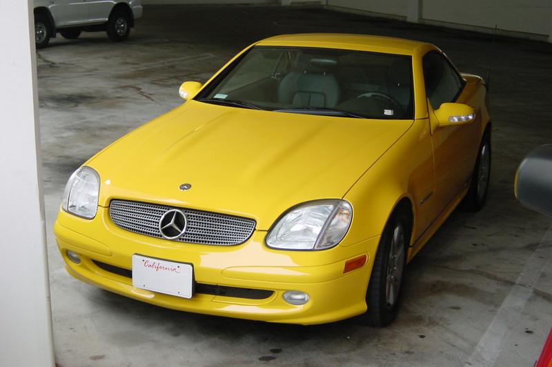 Greg, one of Naughty Dog's cut-scene animators, drives this Mercedes Benz SLK