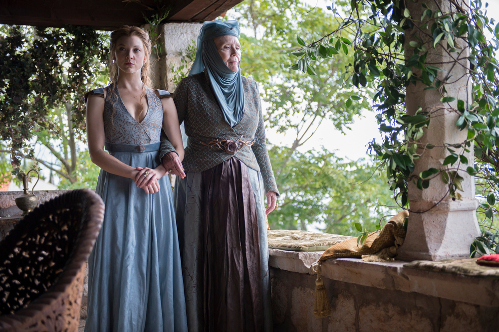 . Game of Thrones, Season 4: Natalie Dormer and Diana Rigg. (Photo by Macall B. Polay)